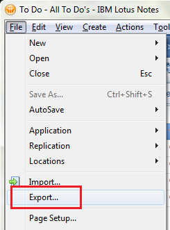 Lotus Notes CSV Export
