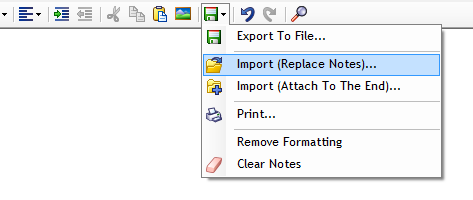 Import notes into memo