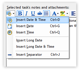 Notes Insert Date