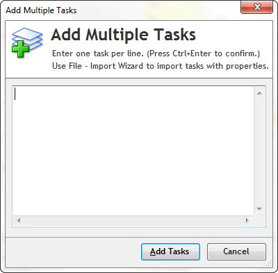 Add multiple tasks