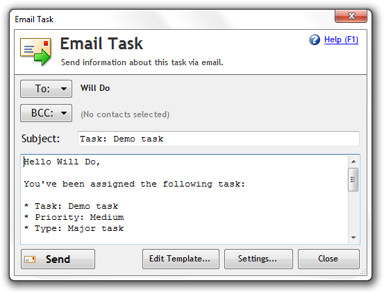 Email task
