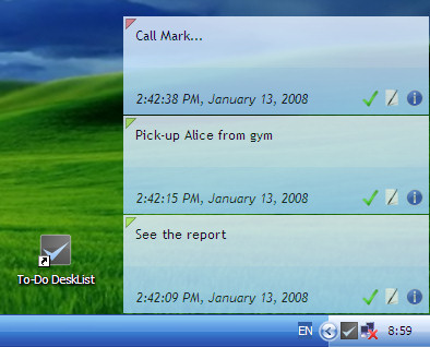 Freeware desktop to-do list  Beautiful & light-weight