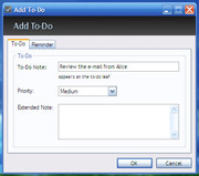 To-Do Desklist Add Task dialog