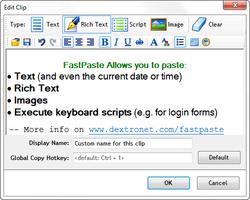FastPaste - configure clipboard clip screenshot