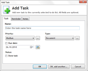 Add Task in Task List Guru