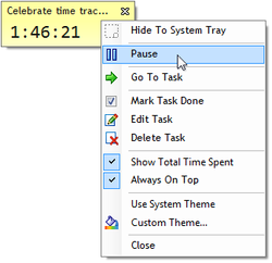Time Tracking feature