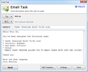 Email Task feature