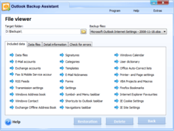 Backup file viewer