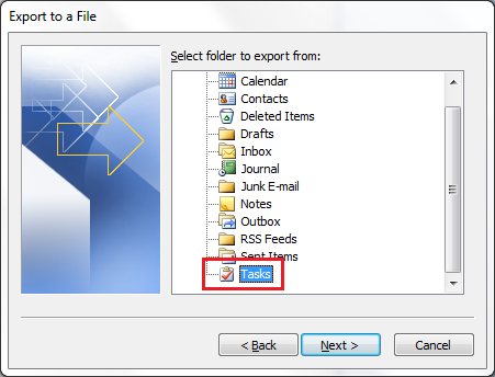 Outlook 2010 Import Step 4