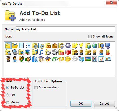 Create a memo to manage notes