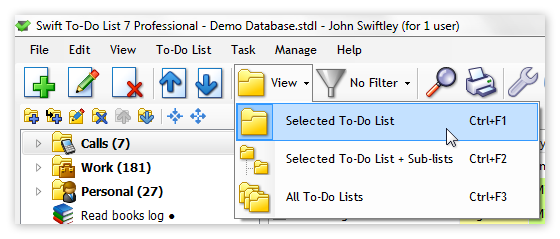 View Mode toolbar switch