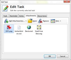 Task attachments