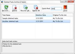 Task archive