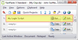 """Execute scripts with """"Run"""" button or global hotkeys"""