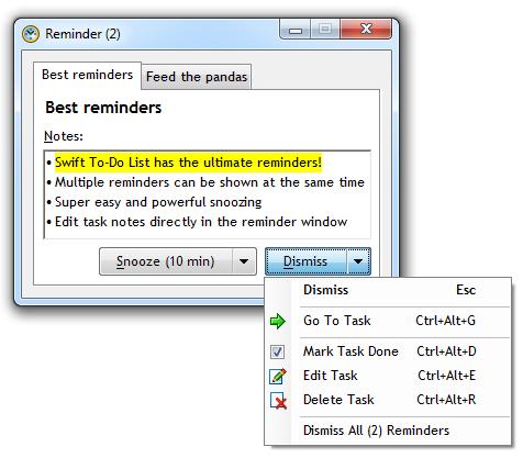 Reminder software